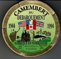 Etiquette Et Boite Fromage  - CAMEMBERT DU DEBARQUEMENT 1944 / 1994- état Neuf. - Cheese