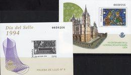 Imperf.EXPO 2003 Spanien 3148B+Bl.119SD ** 35€ Kathedrale Barcelona Art Hoja Pruebas S/s Church Black Sheets Espana - Probe- Und Nachdrucke