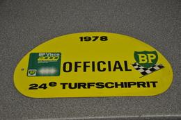 Rally Plaat-rallye Plaque Plastic: 24e Turfschiprit Breda 1978 OFFICIAL BP - Plaques De Rallye