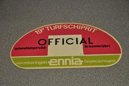 Rally Plaat-rallye Plaque Plastic: 19e Turfschiprit Breda 1973 OFFICIAL Ennia Baronierijders - Rallye (Rally) Plates