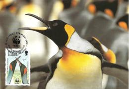 1991 - FALKLAND ISLANDS - King Penguin - Pingouin Manchot Royal  WWF - Falkland