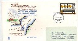 GB FDC 1972 TRANSMISSION DE MARCONI  50 ANS DE LA BBC POUR LA FRANCE - 1952-1971 Em. Prédécimales