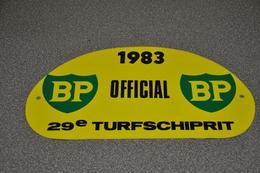 Rally Plaat-rallye Plaque Plastic: 29e Turfschiprit Breda 1983 OFFICIAL BP - Plaques De Rallye