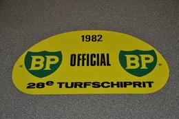 Rally Plaat-rallye Plaque Plastic: 28e Turfschiprit Breda 1982 OFFICIAL BP - Plaques De Rallye