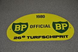 Rally Plaat-rallye Plaque Plastic: 26e Turfschiprit Breda 1980 OFFICIAL BP - Plaques De Rallye
