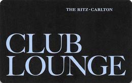 The Ritz-Carlton - CLUB LOUNGE  - Hotel Room Key Card, Hotelkarte, Schlüsselkarte, Clé De L'Hôtel - Hotelkarten