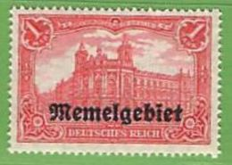 MiNr.9 X  Deutschland Deutsche Abstimmungsgebiete Memelgebiet - Memel (Klaïpeda)