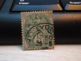 Timbre  Type Blanc 5 C N° 111 - Oblitéré  - LYON - 1900-29 Blanc