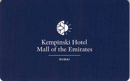Kempinski Mall Of The Emirates - Dubai - Hotel Room Key Card, Hotelkarte, Schlüsselkarte, Clé De L'Hôtel - Hotelkarten