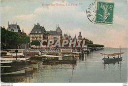 CPA Evian Les Bains Le Port - Evian-les-Bains