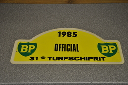 Rally Plaat-rallye Plaque Plastic: 31e Turfschiprit Breda 1985 OFFICIAL BP - Rallye (Rally) Plates