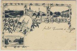 CSSR - Iglau Gruss-aus-Mehrbild-Litho Gelaufen N Bad Tölz 1901 Tschechien Böhmen - Tschechische Republik