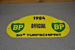 Rally Plaat-rallye Plaque Plastic: 30e Turfschiprit Breda 1984 OFFICIAL BP - Plaques De Rallye