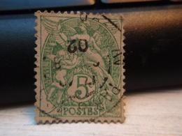 Timbre  Type Blanc 5 C N° 111 - Oblitéré  - PARIS 1902 - 1900-29 Blanc