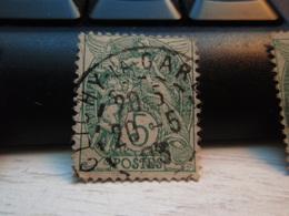 Timbre  Type Blanc 5 C N° 111 - Oblitéré  -  CLICHY-LA-GARENNE 1903 - 1900-29 Blanc