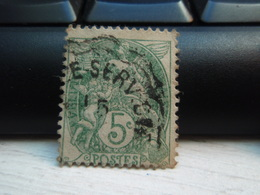 Timbre  Type Blanc 5 C N° 111 - Oblitéré  - - 1900-29 Blanc