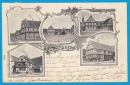 AK Hunspach Soultz-sous-Forêts Fachwerkhäuser 1903  (1201 - Elsass