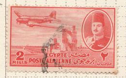 PIA - EGITTO - 1947 : Aereo DC-3 Su Diga - (Yv P.A. 29) - Poste Aérienne