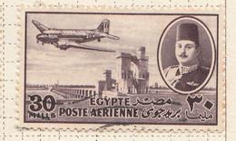 PIA - EGITTO - 1947 : Aereo DC-3 Su Diga - (Yv P.A. 36) - Posta Aerea
