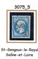 France : Petit Chiffre N° 3075 : St  Gengoux Le Royal (  Saône Et Loire) Indice 5 - 1849-1876: Klassik