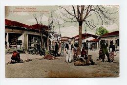 - CPA SHKODRA (Albanie) - Die Faulenzer- Und Handelsecke In Skutari (belle Animation) - - Albanie