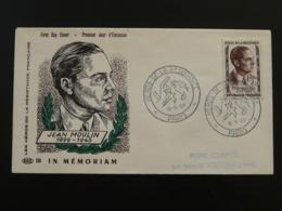 FDC Héros De La Résistance Edition ROC Jean Moulin Paris 1957 - Guerre Mondiale (Seconde)