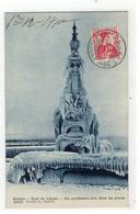 9433   Genève. - Quai Du Léman - Un Candélabre Pris Dans Les Glaces 1910 - GE Genf