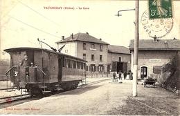 CPA - VAUGNERAY  (RHÔNE)  - LA GARE - France