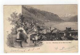 J J 74A - Montreux Et La Dent Du Midi 1904 - Suiza