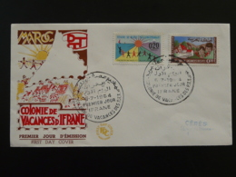FDC Colonie De Vacances D'Ifrane Enfant Child Maroc 1964 - Marocco (1956-...)