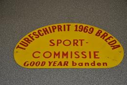 Rally Plaat-rallye Plaque Plastic: 15e Turfschiprit Breda 1969 SPORT-COMMISSIE Good-year Banden - Rallye (Rally) Plates