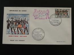 FDC Ballet Diaboua Folklore Et Tourisme Congo 1964 - FDC