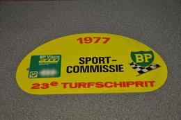 Rally Plaat-rallye Plaque Plastic: 23e Turfschiprit Breda 1977 SPORT-COMMISSIE BP Visco 2000 - Plaques De Rallye