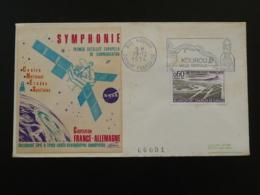 Lettre Cover Lancement Du Satellite Symphonie Flamme CNES Kourou Guyane 1974 - Europe