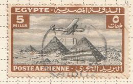 PIA - EGITTO - 1933-38 : Aereo Sulle Piramidi - (Yv P.A. 9) - Poste Aérienne