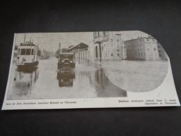 """Origineel Knipsel ( 3287 ) Uit Tijdschrift """" Ons Volk """"  1932  :  Vilvorde  Vilvoorde  Trois - Fontaines -  Tram - Old Paper"""