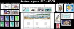 ST-PIERRE ET MIQUELON  - Année Complète 1997 + AVION - Yv. 641 à 662 + PA 76/77 ** MNH  24 Tp  ..Réf.SPM11780 - St.Pierre & Miquelon
