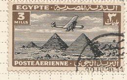 PIA - EGITTO - 1933-38 : Aereo Sulle Piramidi - (Yv P.A. 7) - Poste Aérienne