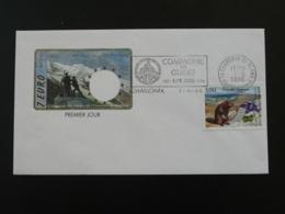 Lettre FDC Cover Compagnie Des Guides De Montagne Flamme Chamonix 74 Haute Savoie 1996 - Escalade