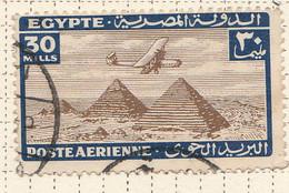 PIA - EGITTO - 1933-38 : Aereo Sulle Piramidi - (Yv P.A. 16) - Poste Aérienne
