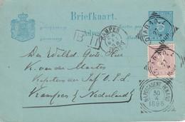 INDES NEERLANDAISES 1896   ENTIER POSTAL/GANZSACHE/ POSTAL STATIONERY CARTE POUR KAMPEN - Indes Néerlandaises