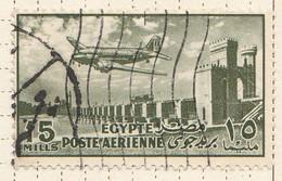 PIA - EGITTO - 1953 : Aereo DC-3 Sulla Diga- (Yv P.A. 56) - Poste Aérienne