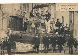 Cavalcade Villeneuve Sur Yonne 7/5/1922 La Galère Des Poires . Impots Petrole . Genes Genova - Manifestations