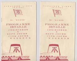 Typaldos Lines, Programme Croisières. 2 Brochures 12 Pages. - Programmes