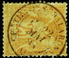 -Sage N°92 Type LI.(CAD) O CHATILLON-S-CHALARONNE  ( 1 ) 22 MAI 1888. - 1876-1898 Sage (Type II)