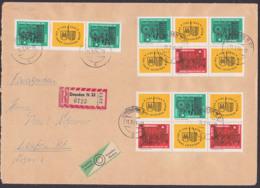 Leipziger Messe 1965 Zdr Auf Auslands R-Brief Dresden Nach Laufen Schweiz 11.3.64, DDR 1012/13, - DDR
