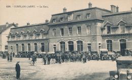 54) CONFLANS-JARNY : La Gare (animée) 1927 - Jarny