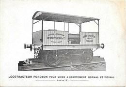 Courcelles NA35: Ateliers De Construction H. Pèlerin & Cie. Locotracteur Fordson... - Courcelles