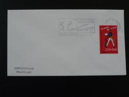Année Pasteur Besancon 1995 Flamme Sur Lettre Postmark On Cover 25 Doubs - Mechanical Postmarks (Advertisement)