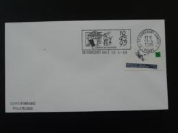 Liberté Recouvrée Bethoncourt Annexe 1995 Flamme Sur Lettre Postmark On Cover 25 Doubs - Mechanical Postmarks (Advertisement)